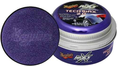 Cera Nxt Tech Wax 2.0 Meguiars Pasta Roxa G12711 + Flanela Toalha Microfibra 40 X 60 Cm Autoamerica (sem embalagem / blister)