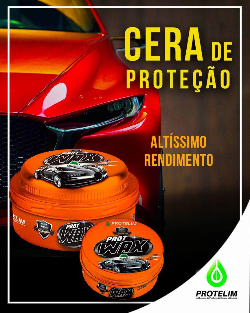 Cera Prot Wax Carnaúba Cristalizadora Protelim 300g proteção