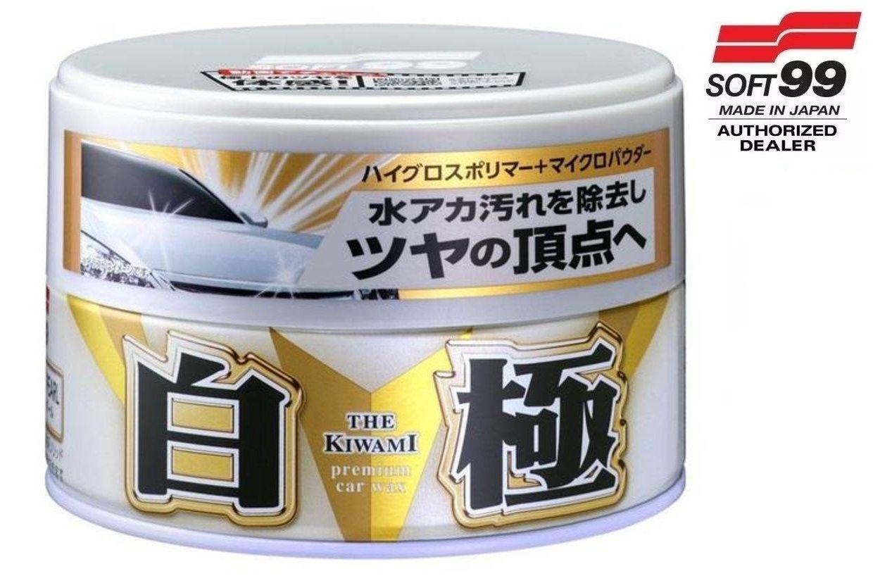 Cera Sintética Extreme Gloss White Soft99 Cores Claras + microfibra 40x60 Autoamerica