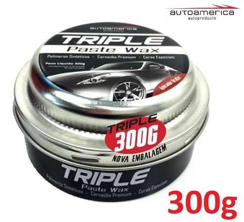 Cera Triple Wax Autoamerica 300g + Suporte Boina Espuma Velcro Autoamerica 7,5 polegadas