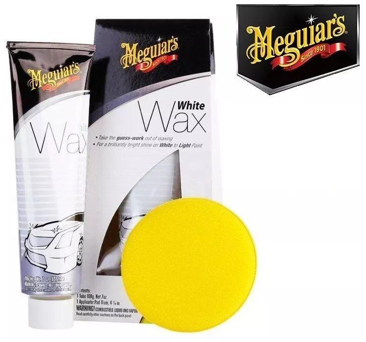 Cera White Wax Paste Meguiars 198g G6107 Carro Branco