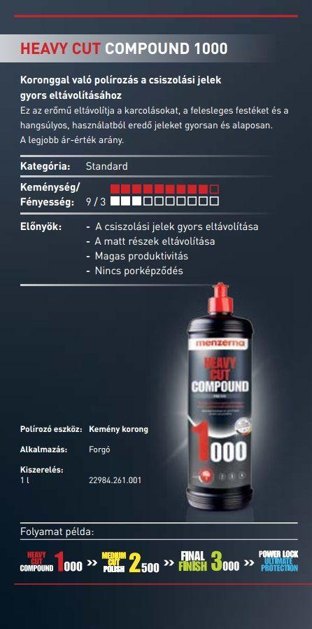 Composto polidor HCC-1000 Menzerna 300ml p/ corte