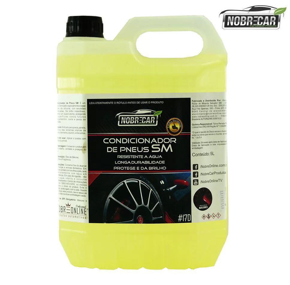 Condicionador De Pneus Pretinho Sm Nobre Car 5L Resiste Agua