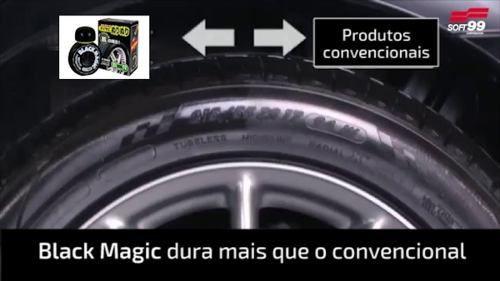CÓPIA - Cera Fusso Coat Soft99 Light Carros Cores Claras 200g Branca + Pretinho Hidratante Pneu Dura 2 Mes Black Magic Soft99 150ml
