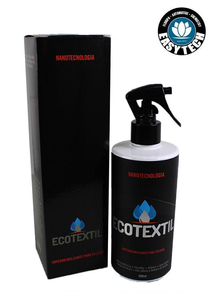 Kit c/ 02 Impermeabilize Sofá Em Casa tecido Ecotextil 500ml Nano Easytech