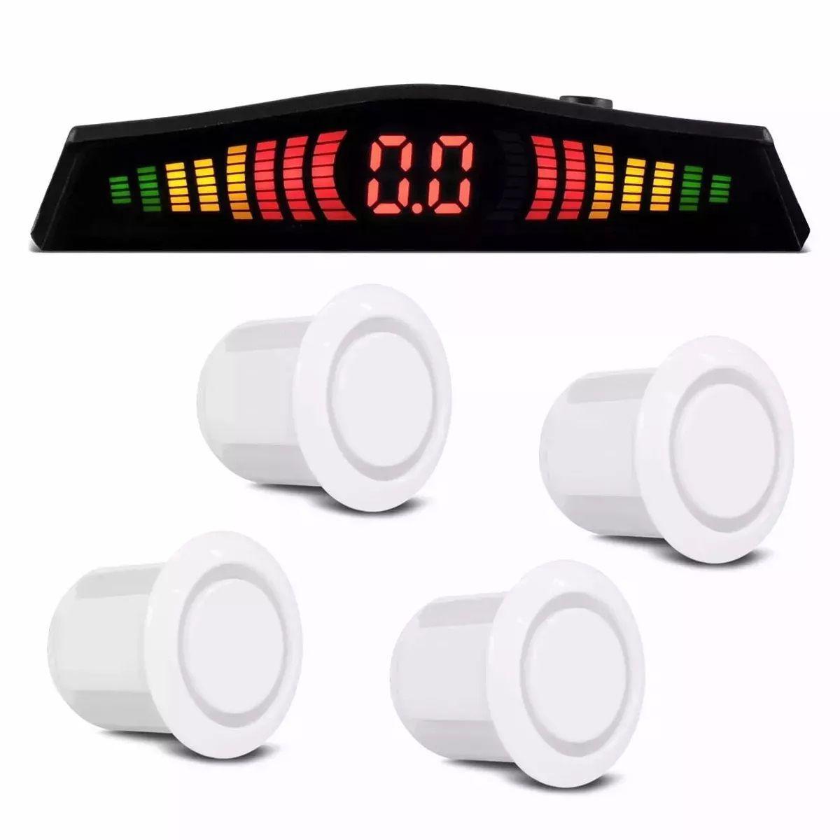 Sensor Estacionamento Re 4 Sensores Display branco