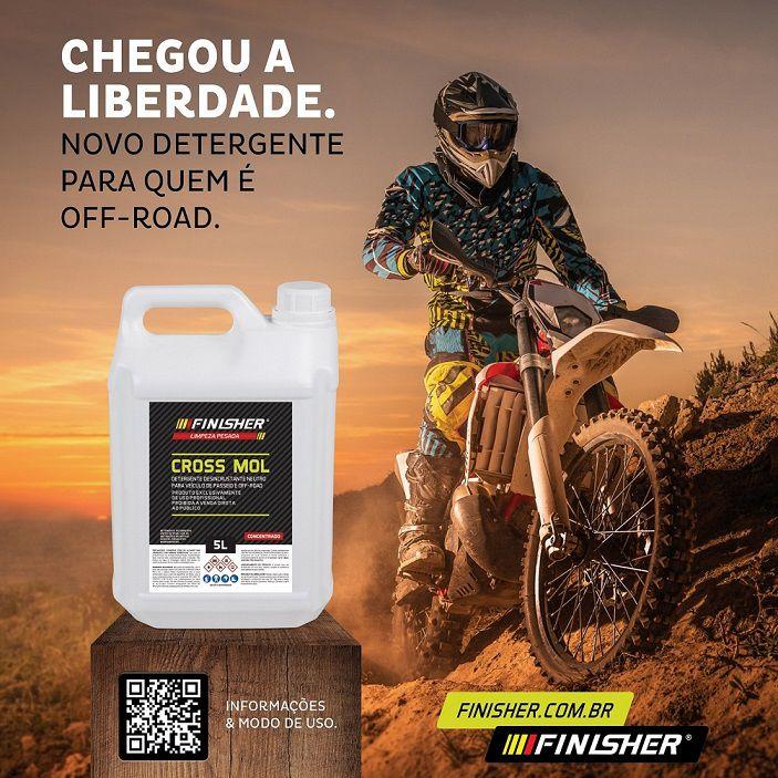 Detergente Neutro Cross Mol 2L Off Road Finisher desincrusta