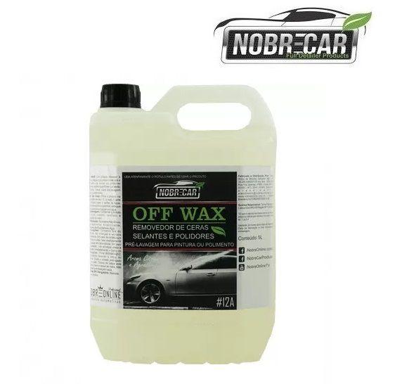 Detergente Off Wax Desengordurante Removedor Cera 5L Nobre Car