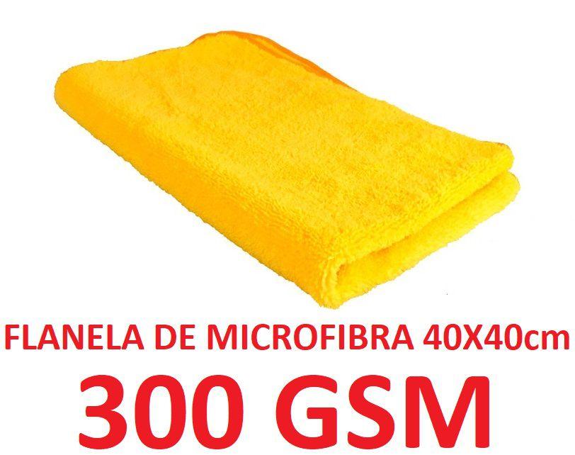 Flanela Toalha Microfibra 40 X 40 Cm Importada 300gsm (sem embalagem / blister)