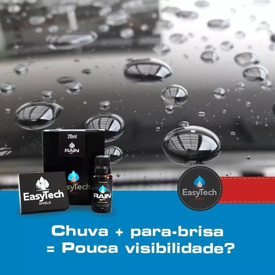 Gt1 Rain 20ml Repelente Chuva Nano 2 Anos Easytech