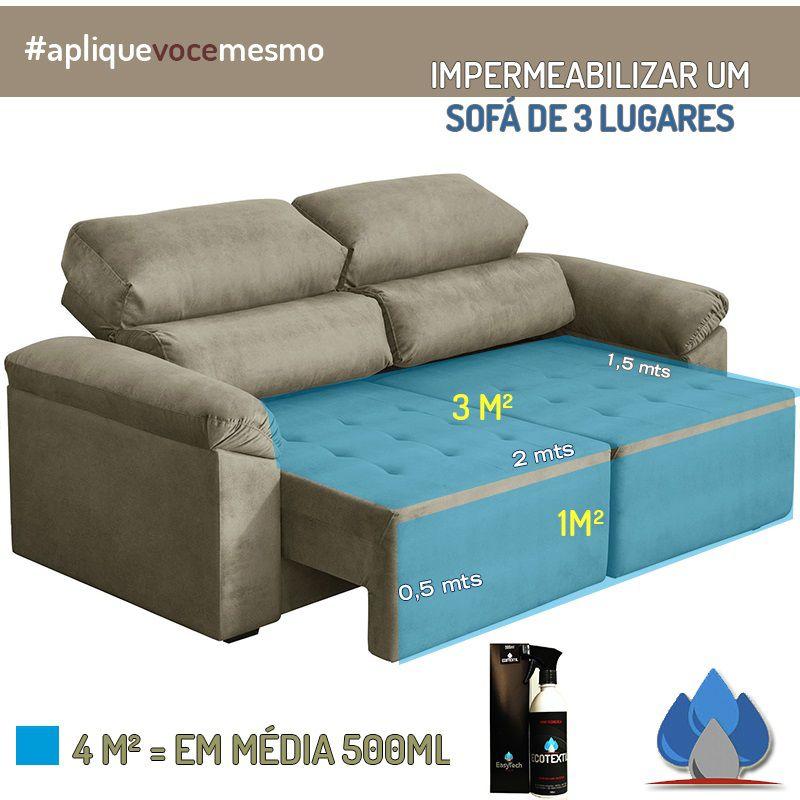 Ecotextil Impermeabilize Sofá Em Casa tecido 200ml Nano Easytech