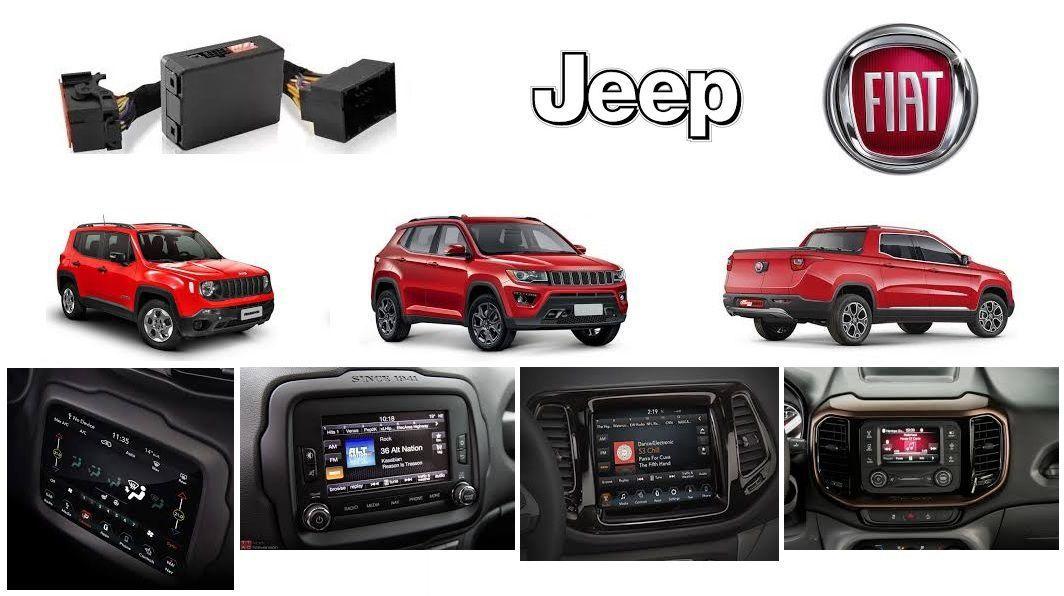 Interface de vídeo Fiat Jeep Compass / Renegade / Toro + Espelhamento