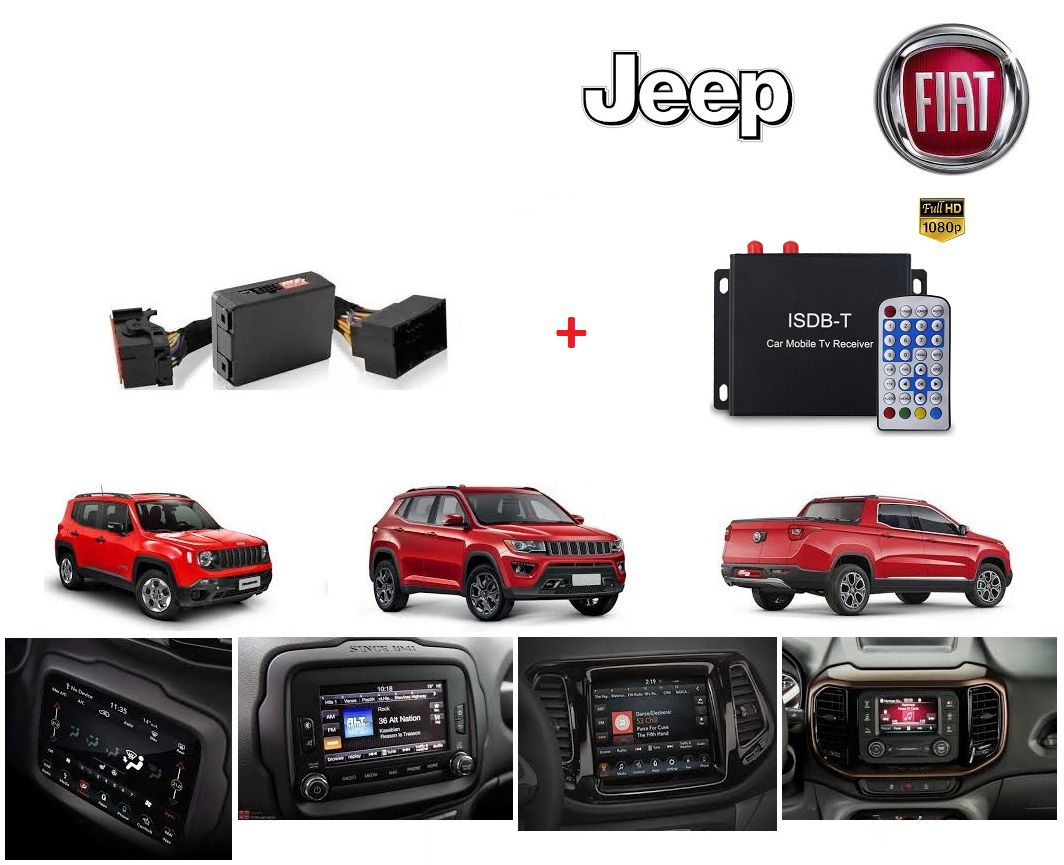 Interface de vídeo Fiat Jeep Compass / Renegade / Toro + TV HD