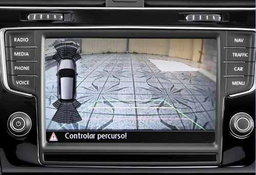 Interface Desbloqueio C/ Câmera Ré Emblema VW Golf Bettle