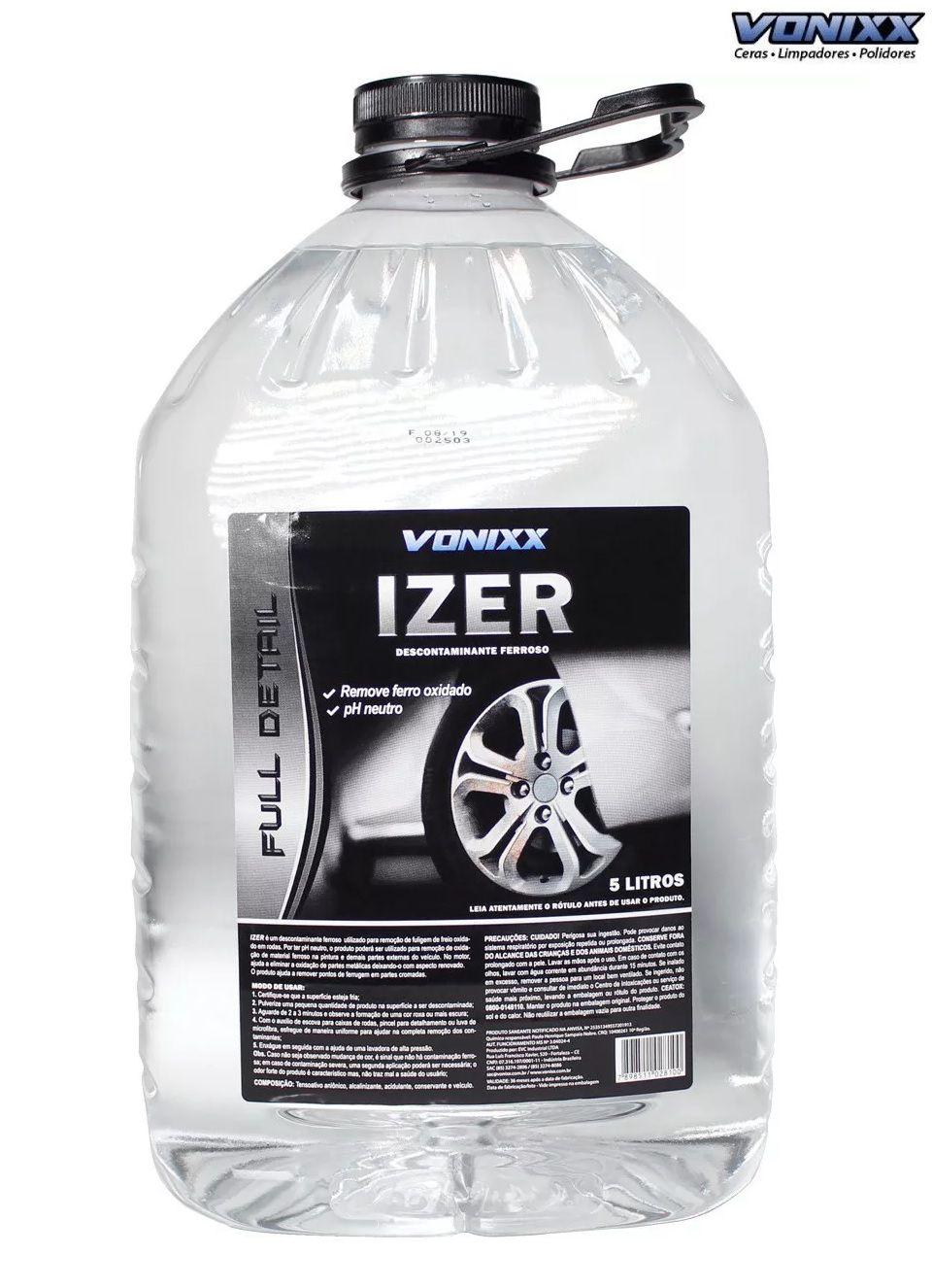Izer 5l Descontaminante Ferroso Vonixx Iron remove ferrugem
