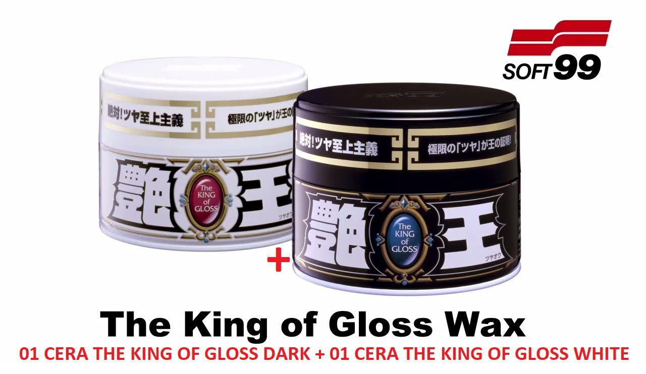 Kit 02 Ceras - 01 The King of Gloss White + 01 Dark Soft99