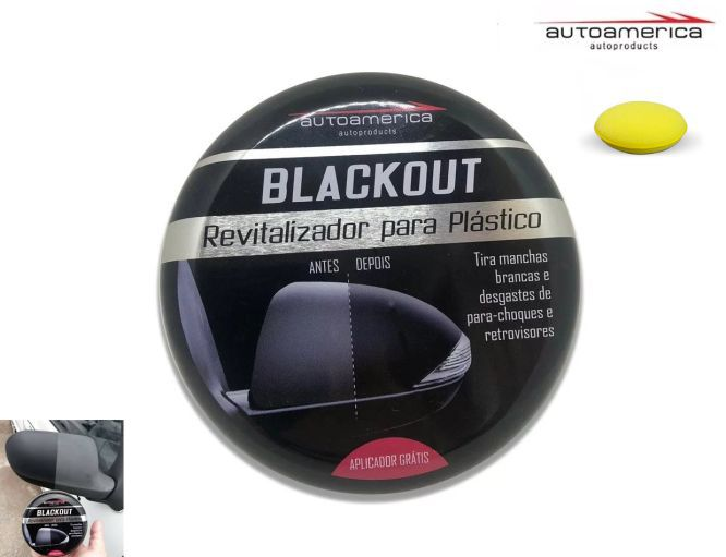Kit 03 Revitalizador Para Plástico Automotivos Blackout Autoamerica 100g