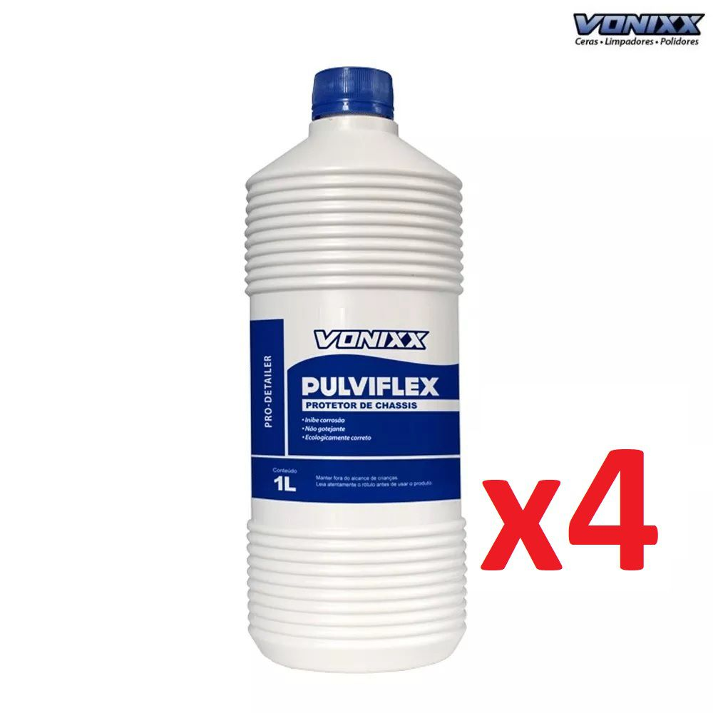 Kit 04 Pulviflex 1L Protetor De Chassis E Caixas De Rodas Vonixx