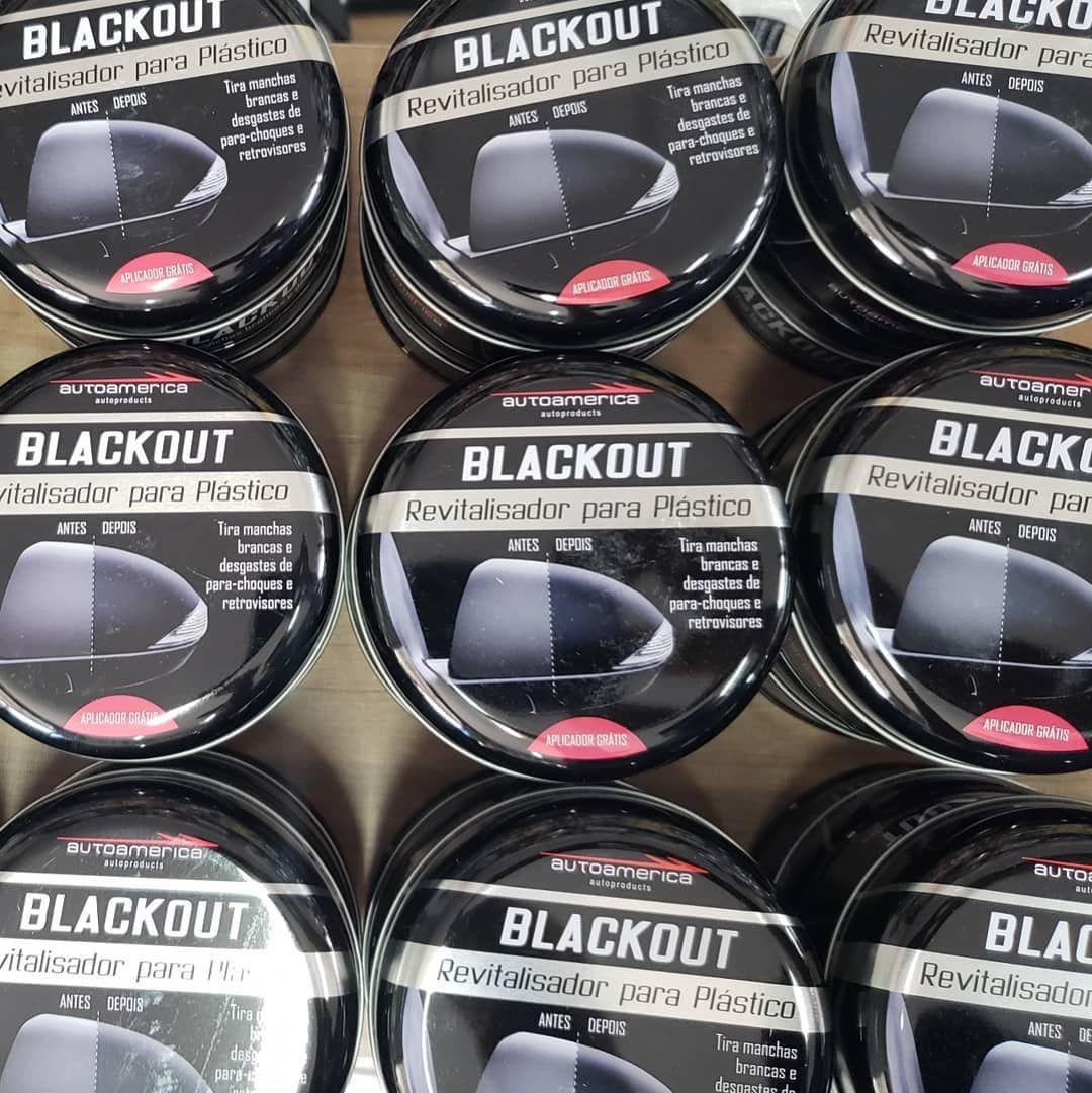 Kit 05 Revitalizador Para Plástico Automotivos Blackout Autoamerica 100g