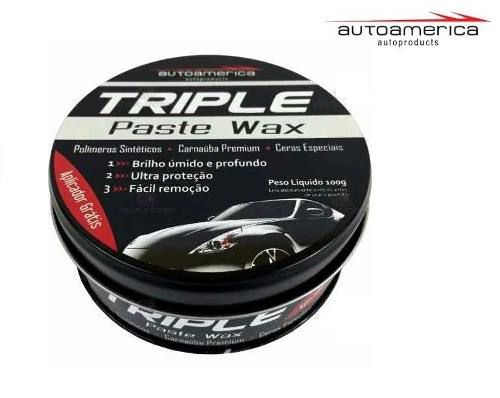 Kit 10 Cera Carnauba Triple Paste Wax Autoamerica 100g Cristaliz
