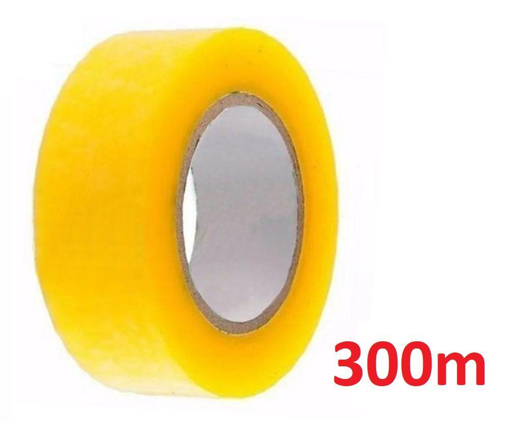 Kit 10 Fita Adesiva Transparente 300m Larga Durex Embalar