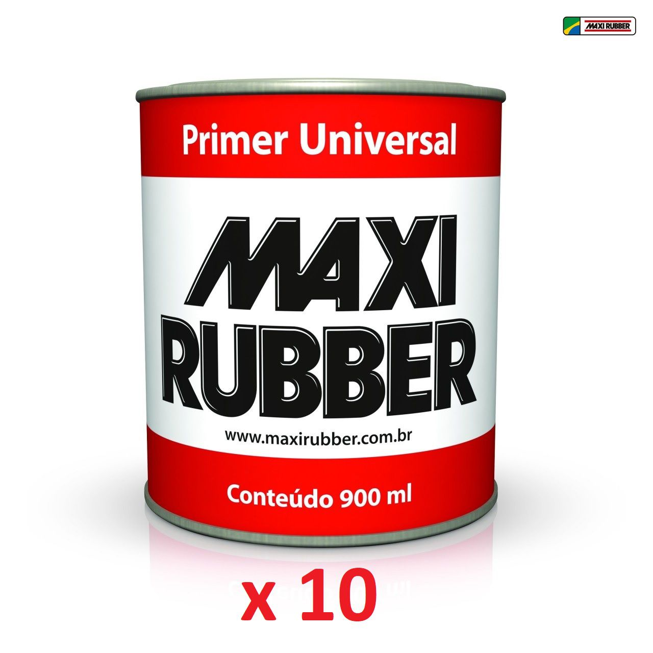 Kit 10 unid. Primer Universal 900ml Maxi Rubber - Branco