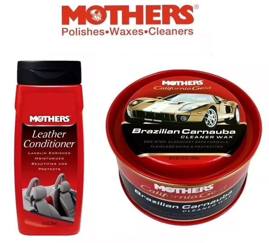 Kit 1 Brazilian Carnauba Mothers + 1 Mothers Leather Conditioner