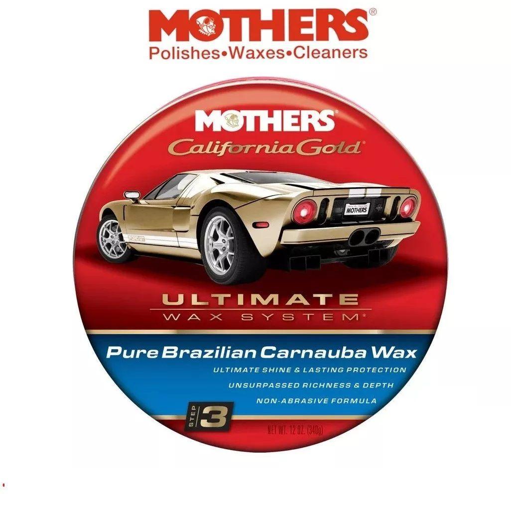 Kit 1 Cera Carnaúba Pura Ultimate Mothers + 2 aplicadores de espuma Autoamerica S/e