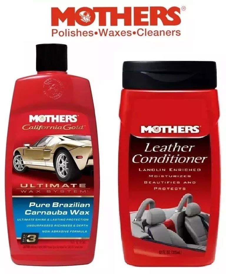 Kit 1 Mothers Leather Conditioner + 1 Mothers Ultimate Wax