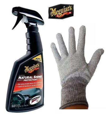 Kit 1 Natural Shine Meguiars G4116 + 1 Luva Envelopamento Cinza