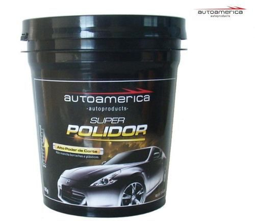 Kit 1 Super Polidor Autoamerica + 1 Pretinho 5lt Vonixx + 2 flanelas Autoamerica