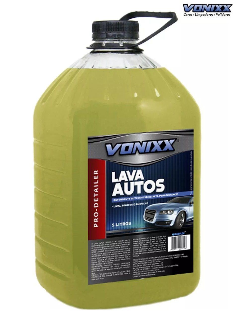 Kit 1 Super Polidor Autoamerica + 1 Pretinho 5lt Vonixx + 4 flanelas Autoamerica + Lava Autos Vonixx