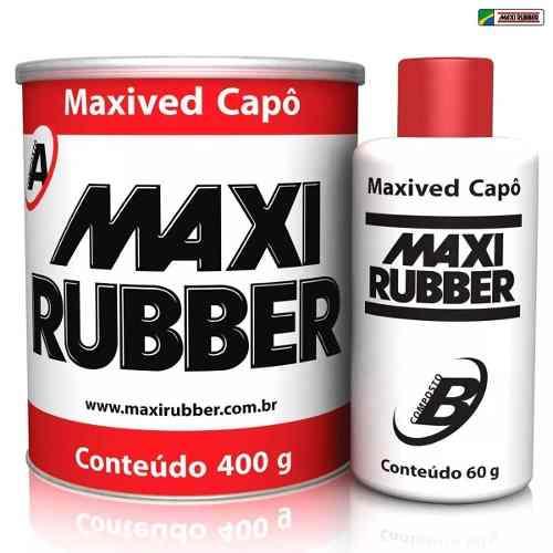 Kit 8 Adesivo Kpo Maxived Branca 400g Catalizador Maxi Rubber