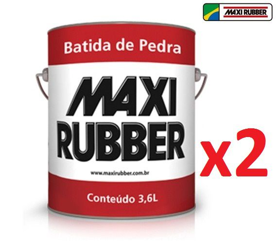 Kit C/ 02 Batida De Pedra Branco 3,6l Emborracham Maxi Rubber 4ma027