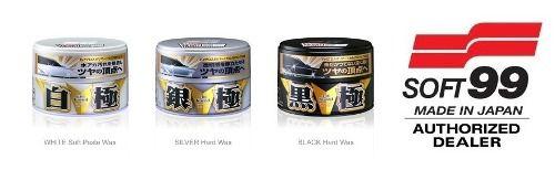 Kit C/ Cera Sintetica Extreme Gloss Black & Dark + White + Beauty Cloth + 2 microfibras