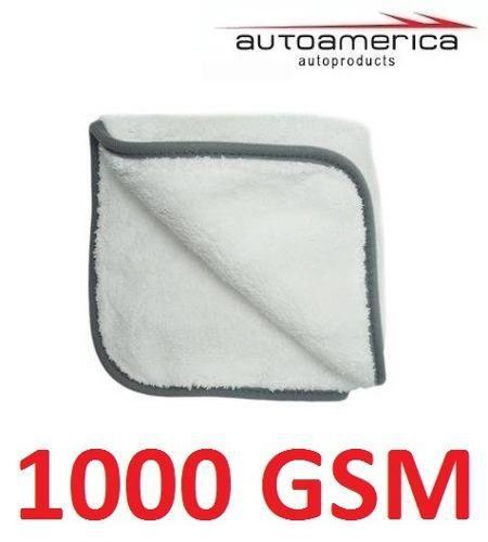 Kit c/ 02 Flanela Toalha Pano Microfibra 1000 Gsm 40x40 Cm Autoamerica