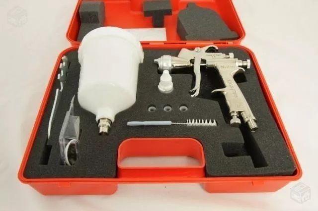 Kit C/ 02 Pistola Pintura Slim S Hte Walcom Bico 1.3 + 1.9