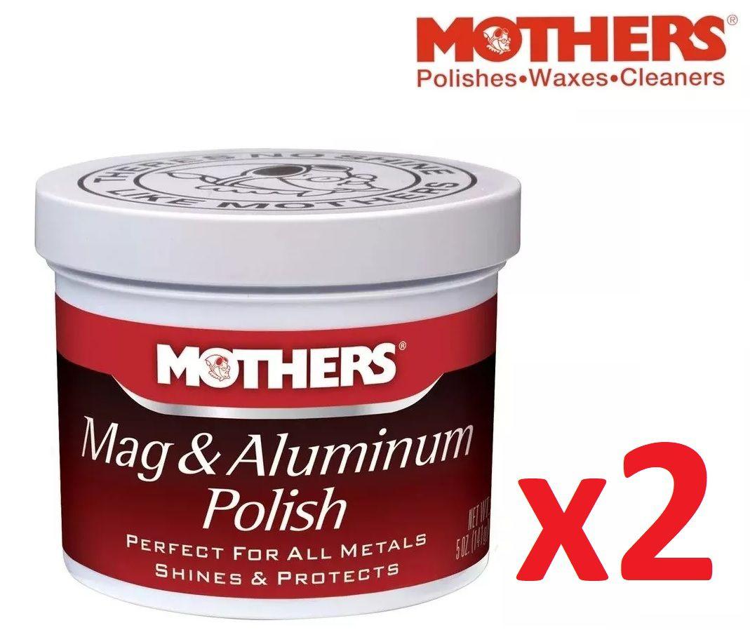 Kit c/ 02 Polidor De Metais Aluminios Mothers Mag Aluminum Polish 141g