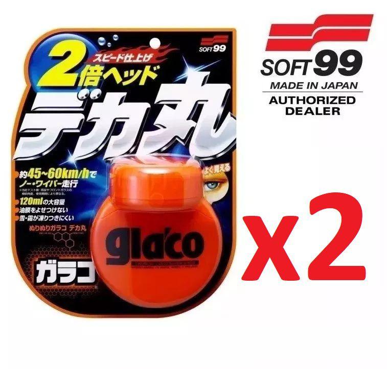 Kit c/ 02 Repelente Glaco Roll On Large BIG Soft99 120ml Chuva Água