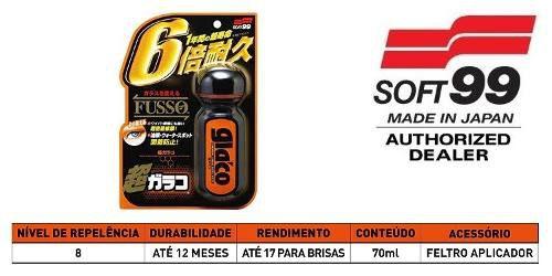 Kit c/ 02 Ultra Glaco Fusso Repelente Cleaner Água Longa Duração 70ml Soft99