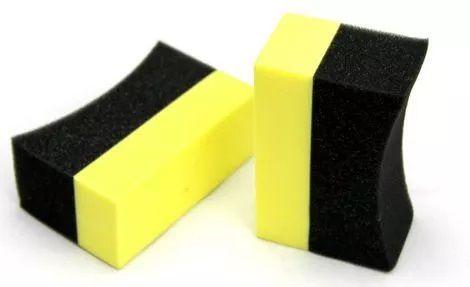 Kit c/ 03 Aplicador de espuma para pretinho c/ suporte amarelo e preto
