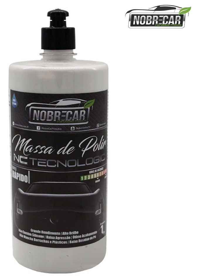 Kit c/ 04 Massa De Polir Nc Tecnologic 1kg Base D´água Nobre Car