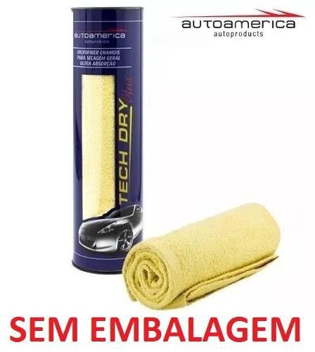 Kit c/ 06 Flanela Secagem Autoamerica Tech Dry Plus (70x40cm) Sem Emb.