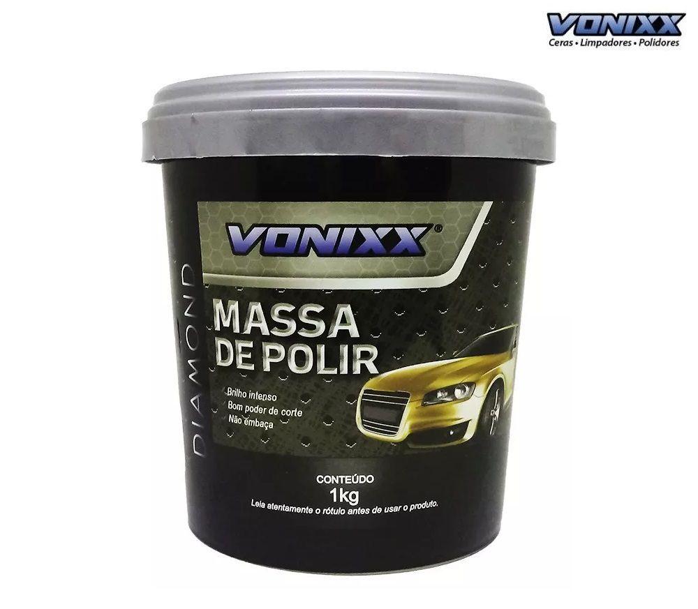 Kit c/ 08 MASSA DE POLIR 1KG VONIXX