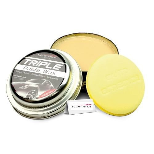 Kit C/ 09 Cera De Carnaúba Triple Paste Wax Autoamerica 300g