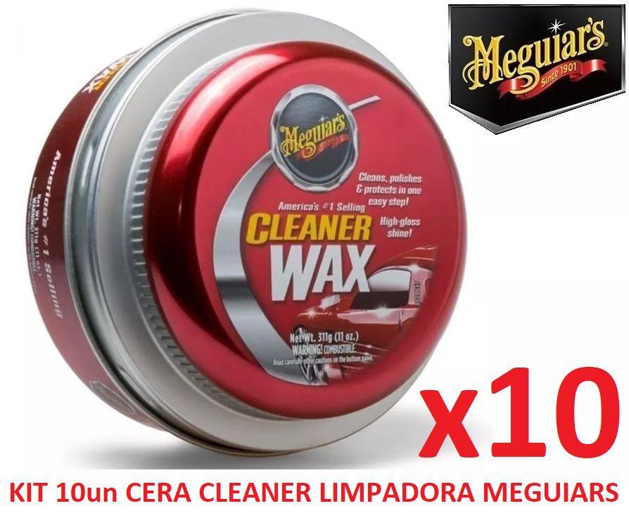 Kit C/ 10 Cera Meguiars Cleaner Wax Pasta Limpadora A1214
