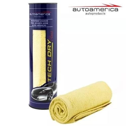 Kit C/ 10 Flanela Secagem Autoamerica Tech Dry Plus (70x40cm) C/E
