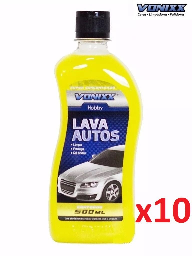 Kit c/ 10 LAVA AUTOS SHAMPOO 500mL VONIXX