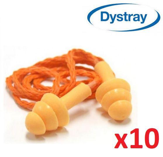 Kit c/ 10 Protetor Auditivo Auricular 13db Silicone Dystray
