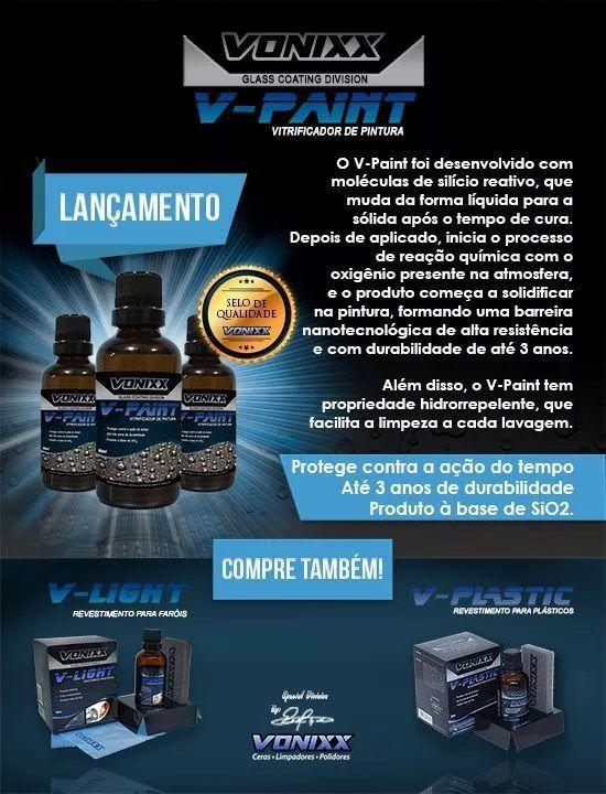 Kit c/ 10un V-paint Vitrificador Pintura 50ml Vonixx 3 Anos